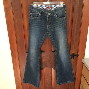 Stretchy boot cut jeans